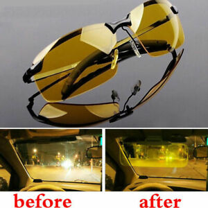Night Driving Glasses HD Anti Glare Vision Polarized Yellow Tinted Unisex A90