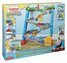 2013 THOMAS & FRIENDS TAKE N PLAY SPILLS & THRILLS ON SODOR PLAYSET!!