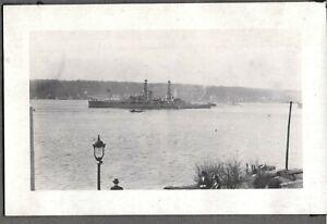 VINTAGE PHOTOGRAPH 1915'S MILITARY NAVY WAR SHIPS BOSTON MASSACHUSETTS OLD PHOTO