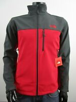 Mens TNF The North Face Apex Bionic FZ Softshell Windproof Jacket - Red / Grey