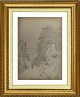 CHARLES WISLIN (1852-1932) SCENE ANIMEE A PERROS-GUIREC BRETAGNE 1880 (497)