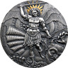St. Michael and the Dragon Apocalypse Antique finish Silver Coin Cameroon 2020