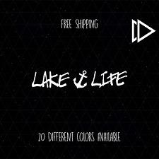 Lake Life Anchor Vinyl Car Laptop Decal Sticker - Sea Ocean Sailor Aquatic Salt