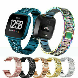 Bling Metal Strap for Fitbit Versa / 2 /lite Stainless Steel Watch Band Bracelet