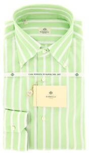 Luigi Borrelli Light Green Striped Shirt - Slim - (DR264OVIDBD)