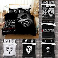 V For Vendetta Design Bedding Set 3PCS Duvet Cover Pillowcase Mask Quilt Cover
