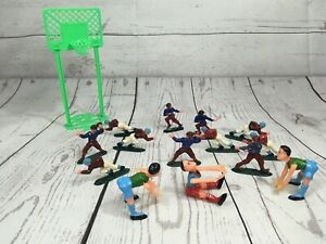 VTG Figurine Rugby and Basketball Plastic Cake Topper 15 Piece Party Set Décor