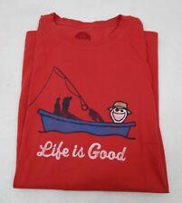 Men's Life is Good T Shirt Fishing  Large