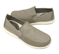 Crocs Santa Cruz Deluxe Slip On Loafer Shoes Men Size 13 Khaki Tan NEW