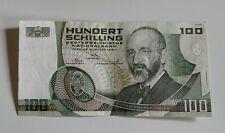 Billet 100 SCHILLING type 1984 Autriche N ° K.067109 Q Très bon état.