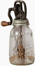 Country Kitchen Vintage Style Rounded Butter Churn Glass Decorative Use Only