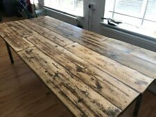 Beautiful rustic up-cycled/reclaimed wood & metal Table 8-10 Seater