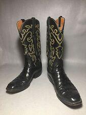 Vintage LUCCHESE OSTRICH San Antonio handmade western BOOTS 9 D