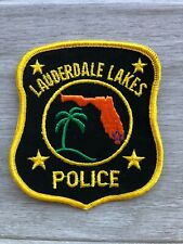 Lauderdale Lakes Florida Police Patch - Vintage - Great Condition!