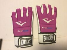 Womens Everlast Evercool Kickboxing Gloves. 4 Ounce, Pink/White/Black,New In Box