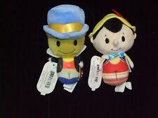 2 new! Hallmark Itty Bittys Collector'S Set Pinocchio & Jiminy Cricket
