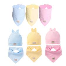 Baby Mütze Neugeborene Unisex Mützchen mit Dreieckstuch Lätzchen set