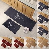 Modern Non Slip Door Floor Rug Mat Kitchen Bathroom Carpet Home Decor Fashion