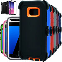 For Samsung Galaxy S7 S7 Edge Shockproof Hard Case Clip Fits Otterbox Defender