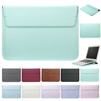 """Leather Envelop Laptop Sleeve Carry bag Case For Macbook Air Retina 11""""12""""13''15"""