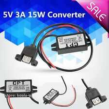 DC Converter Module 12V To 5V 3A 15W USB Output Power Adapter OY