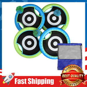Outdoor Trampoline Paddle Ball Set for Kids w/  4 Rackets,3 Rubber String Balls