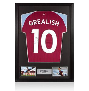 Framed Jack Grealish Signed Aston Villa Stadium Shirt - 2020-2021, Number 10