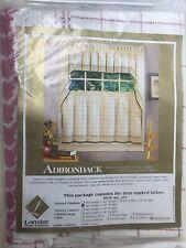 Lorraine Home Curtains  white Rose 60x36 length crochet homespun Decor Kitchen