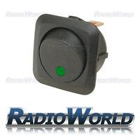 Green LED Illuminated Rocker Switch On/Off 12v 25A Car Van Dash Light