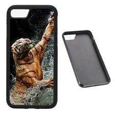 Tiger Strike animal RUBBER phone case Fits iPhone