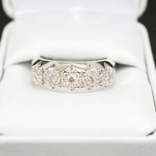 1.20 Ct Round Cut Diamond Ring Men's Engagement Band Wedding White Gold Plated
