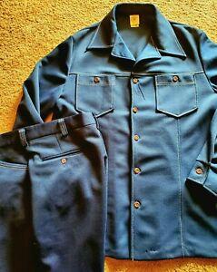 Vintage Jantzen 100 Dark Blue Leisure Suit Jacket & Pants Sz 44