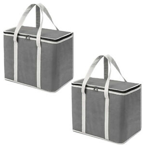 Insulated Reusable Grocery Bags Heavy Duty Shopping Bag Tote Cooler M8V5