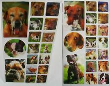 DOGS - 3D Lenticular Stickers - 17 Motion  Flip - Scrapbooks - Gifts - Letters