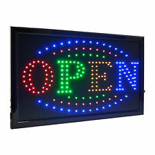 """Large 4 Color High Visible Led Light Business Open Sign Chain Switch 21.5""""x13"""""""
