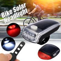 Vélo vélo USB Rechargeable Cycle solaire LED avant Headlight & feux arrière