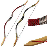 New 35lb Archery Traditional Recurve Bow Han Dynasty Wooden Bow Shooting