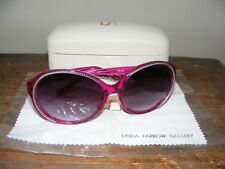 5333f7cb9be BNIB Agent Provocateur x LINDA FARROW Designer Sunglasses MADE in JAPAN  Fuschia