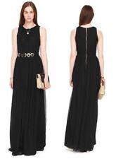 Kate Spade New York Belted silk chiffon maxi fit & flare dress NWT 00 $498.00