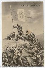 Aspra Conquista Alpini Montagna Bandiera Sabauda PC Circa 1915