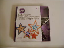 New listing Wilton Metal 4pc Star-Shape Nesting Cookie Cutter Set / New / Sealed