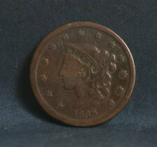 1838 Large Cent Coronet Head Early Rare U.S. coin