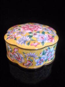 Chine ancienne boite polylobée émaux cloisonnés antique chinese box