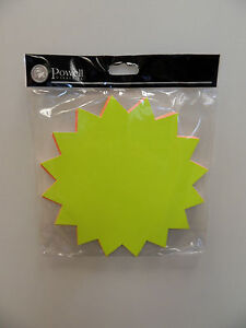 Dayglo STAR Tickets  Size 178 mm diameter - Pack of 25