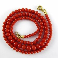 11,9 Taglia RED ART DECO CORALLI CATENA CORALLO CATENA elegante CORALLO CORAL NECKLACE