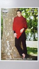 Heirloom Knitting Pattern #371 Ladies Poncho to Knit in 12 Ply Mohair