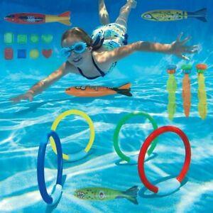 19x Tauch-Spielzeug-Set spaßiges versinkendes Swimming Pool Unterwasserspielzeug