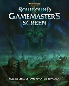 SOULBOUND GAMES MASTERS SCREEN -WARHAMMER AGE OF SIGMAR ROLEPLAY -CUBICLE SEVEN
