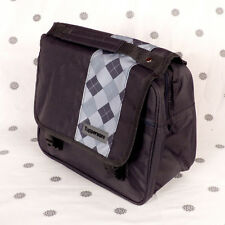 NEW Tupperware Black White Grey Insulated Lunch Bag Satchel Style
