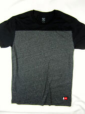 DC Shoes short sleeve two tone Premium t shirt men's Charcoal gray size MEDIUM